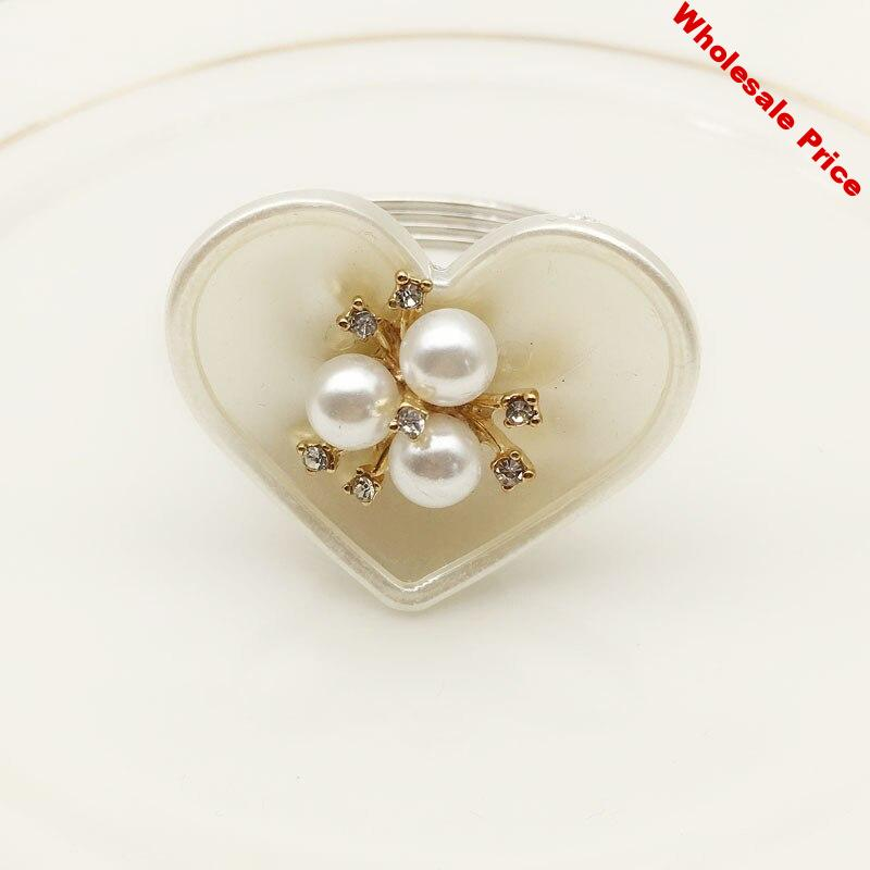 10PCS hotel table set table love pearl mouth cloth ring napkin buckle napkin ring cloth ring mat towel ring