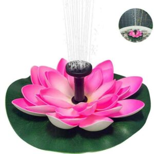 Solar Powered Water Fountain Lotus Shaped Fountain for Landscape Decoration