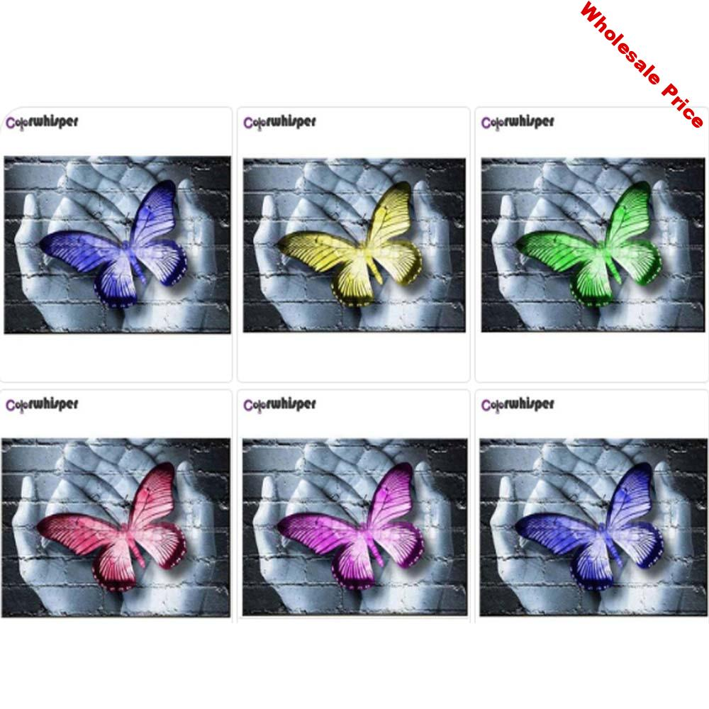 Diamond Painting 5D Full Square/Round Drill Hand Butterfly Daimond Embroidery Painting Cross Stitch Mosaic Picture Wall Art Z503