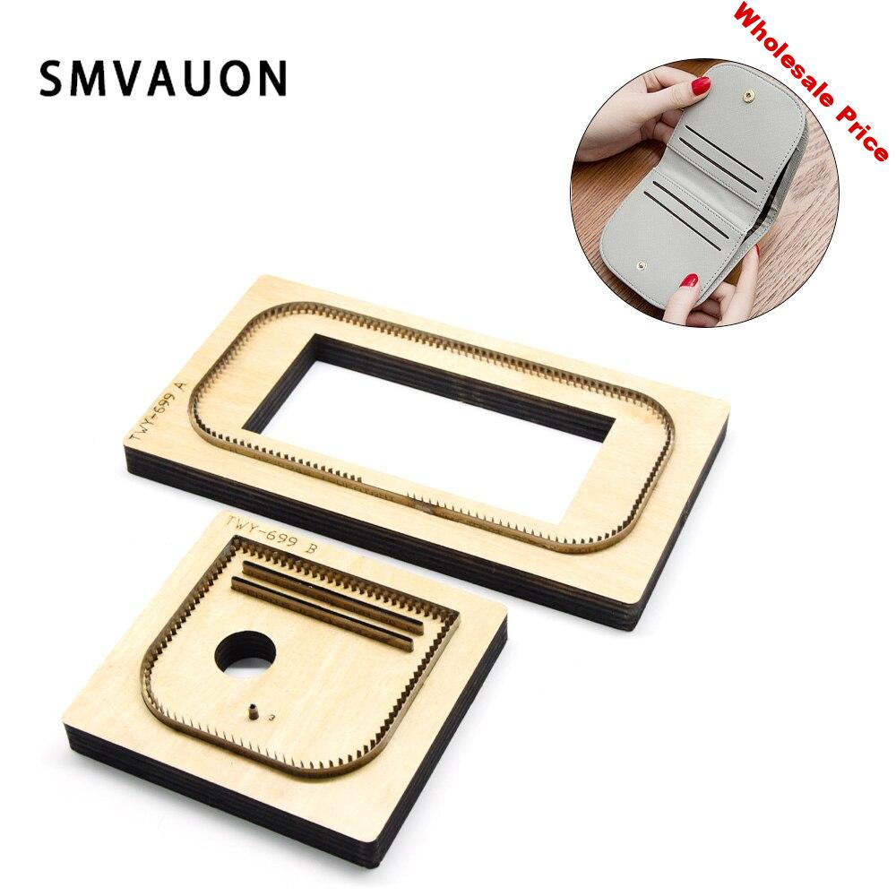 SMVAUON new wooden cutting-dies leather tools coin purse die-cut suitable for die-cutting machine