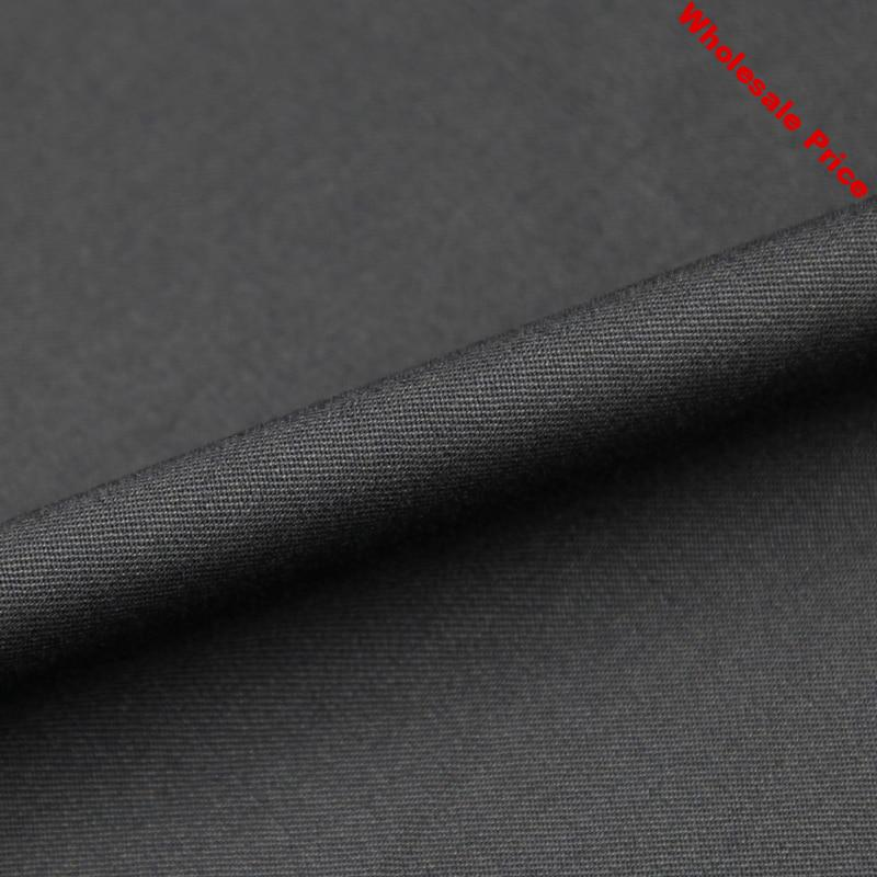 Pure black stretch wool worsted fabric wool worsted fabric 290g/meter