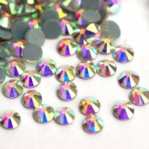 10bags SS16(3.8-4.0MM) AB Color Crystal DMC Hot Fix Stones Glass Hot Fix Rhinestones Free Shipping