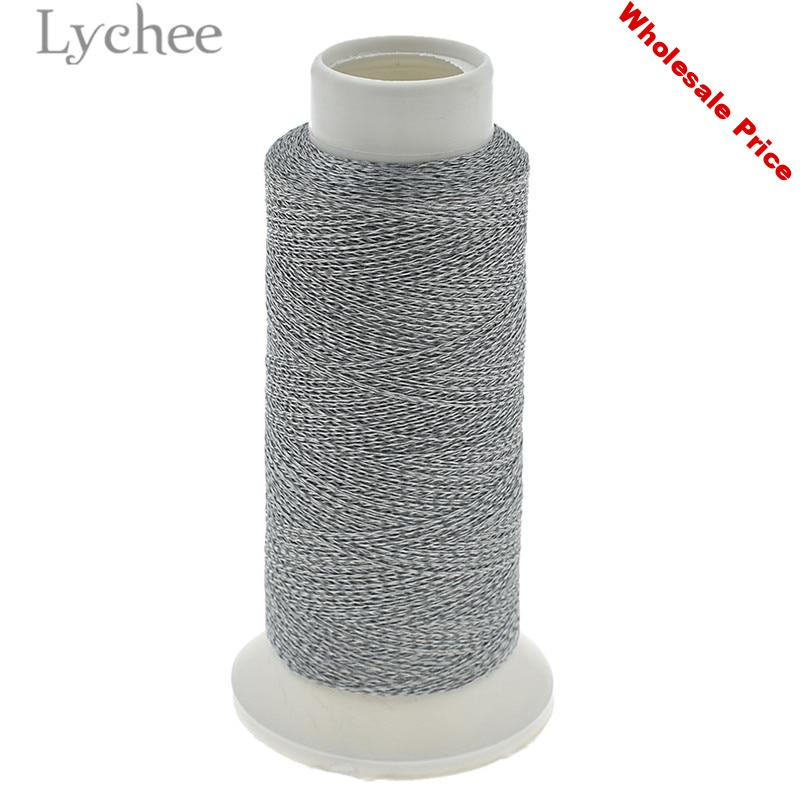 Lychee Life 1000m Polyester Reflective Sewing Thread Embroidery Sewing Thread Line DIY Sewing Material Supplies