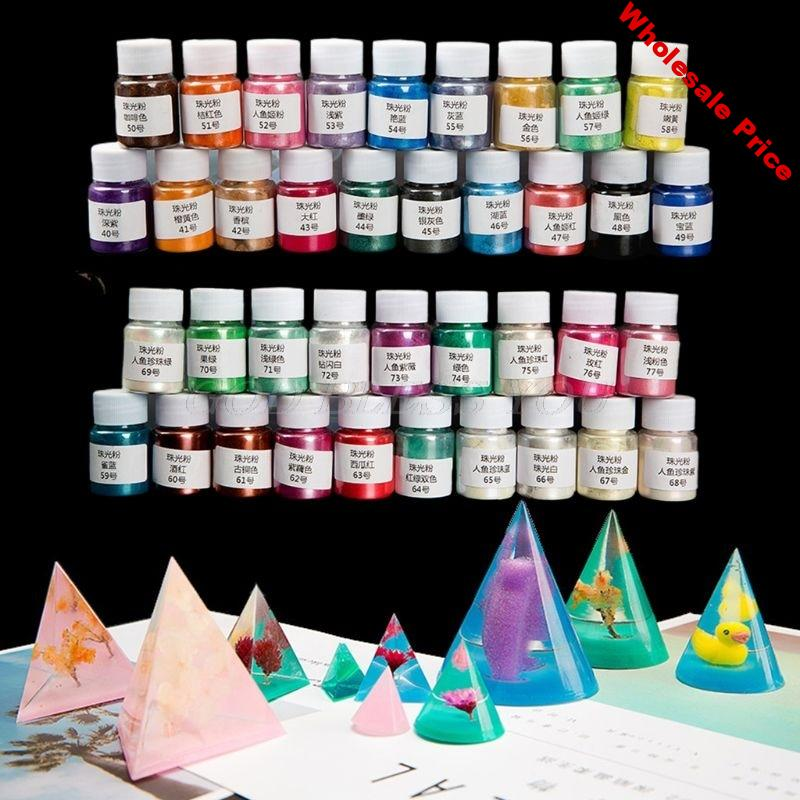 38 Color Cosmetic Grade Pearlescent Mica Powder Epoxy Resin Dye Pearl Pigment DIY Jewelry Crafts Making Accessories Pigment