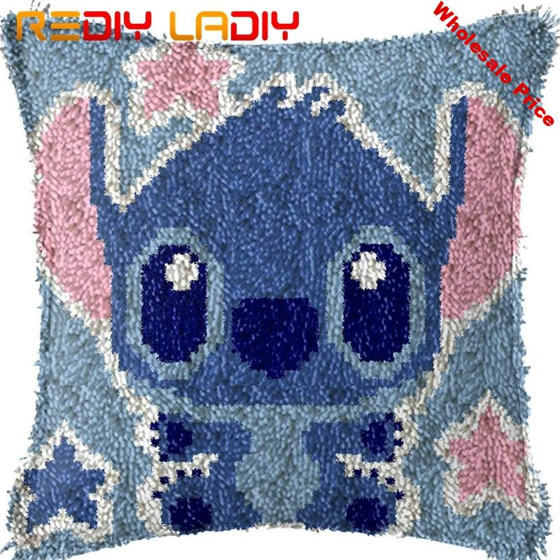 Latch Hook Kits Make Your Own Cushion Stitch Boy Pre-Printed Canvas Crochet Pillow Case Latch Hook Cushion Cover Hobby & Crafts