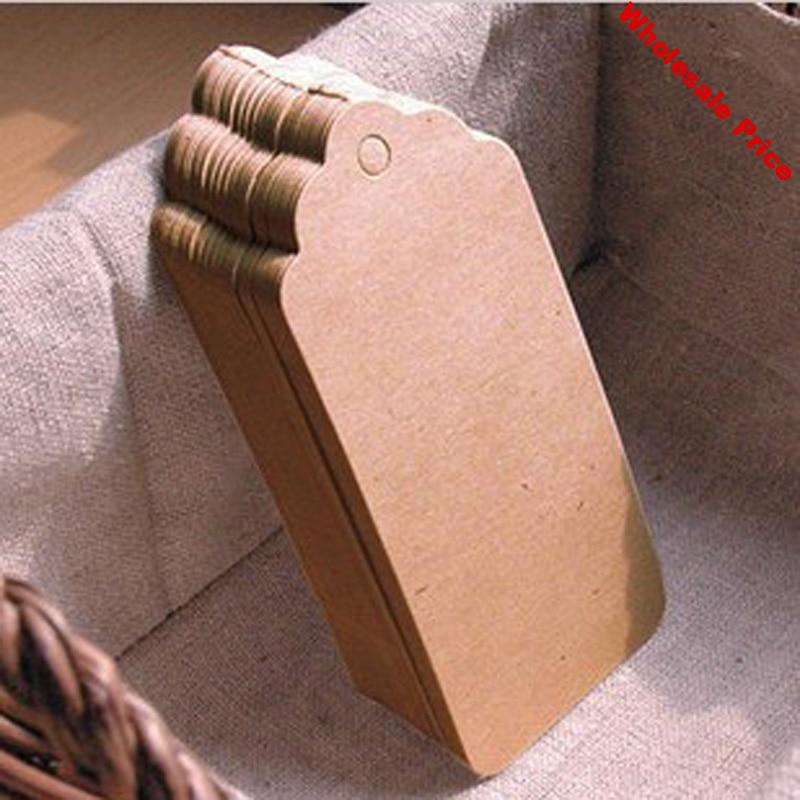 500pcs String Included Brown Paper Tags