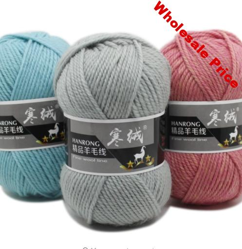 mylb Top Quality 5pcs=500g 60color Merino Wool Knitted Crochet Knitting Yarn Sweater Scarf Sweater Environmental Protection