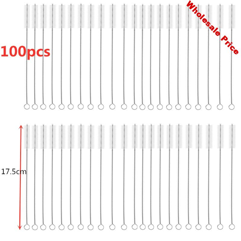 100pcs 175mm Drinking Straws Brushes Pipes Brush Cleaning Brush for Glass Straws Cleaner