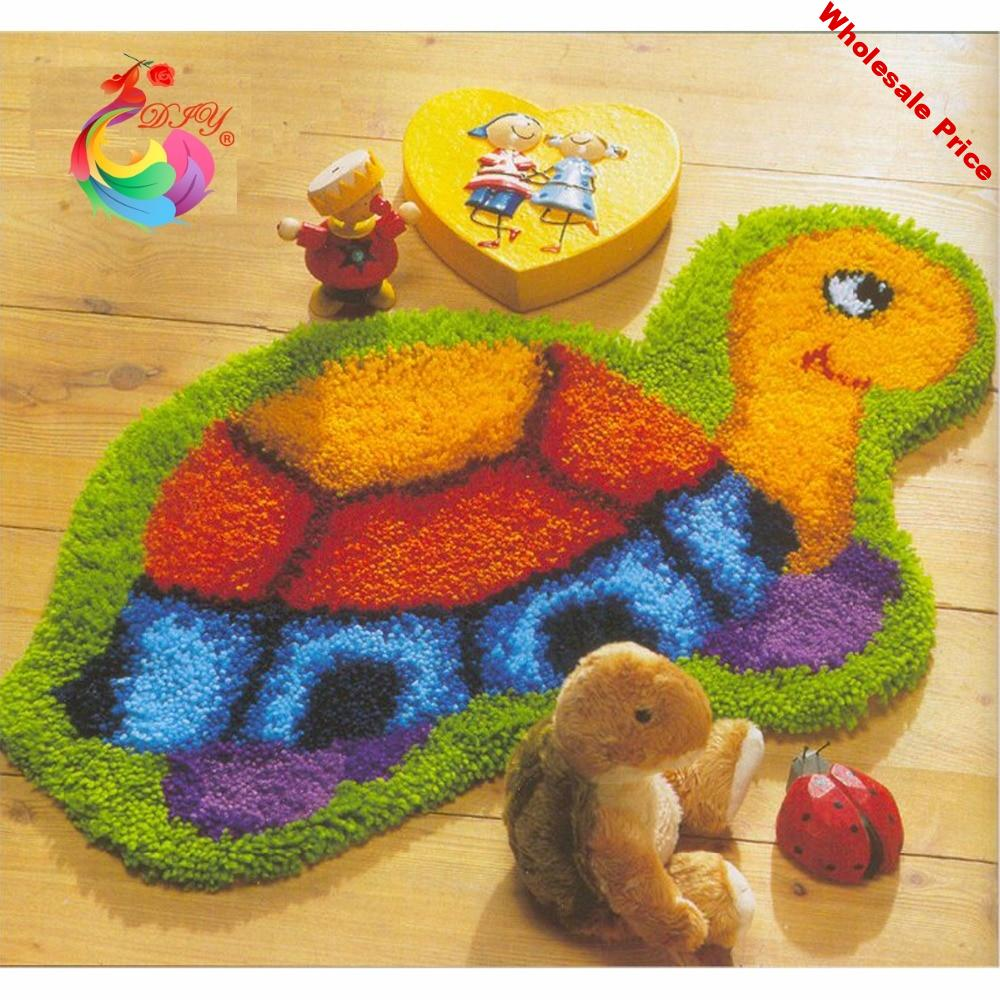 Latch hook rug kits Cartoon picture cross-stitch embroidery rugs and carpets Patchwork carpet Kits for embroidery needlework