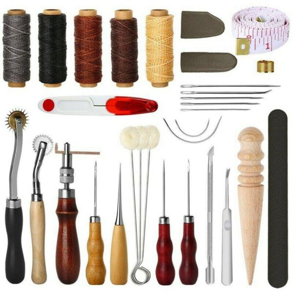 31 Pcs Sewing Needle Awl Leather Craft Sewing Accessories Stitching Awl Sewing Leather Craft Shoe Repair Tools Supplies #N