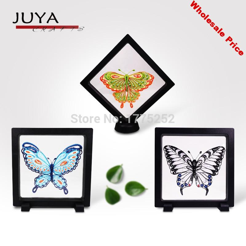 Juya Quilling butterfly style material kit with English instruction and video tutorial quilling paper patterned card