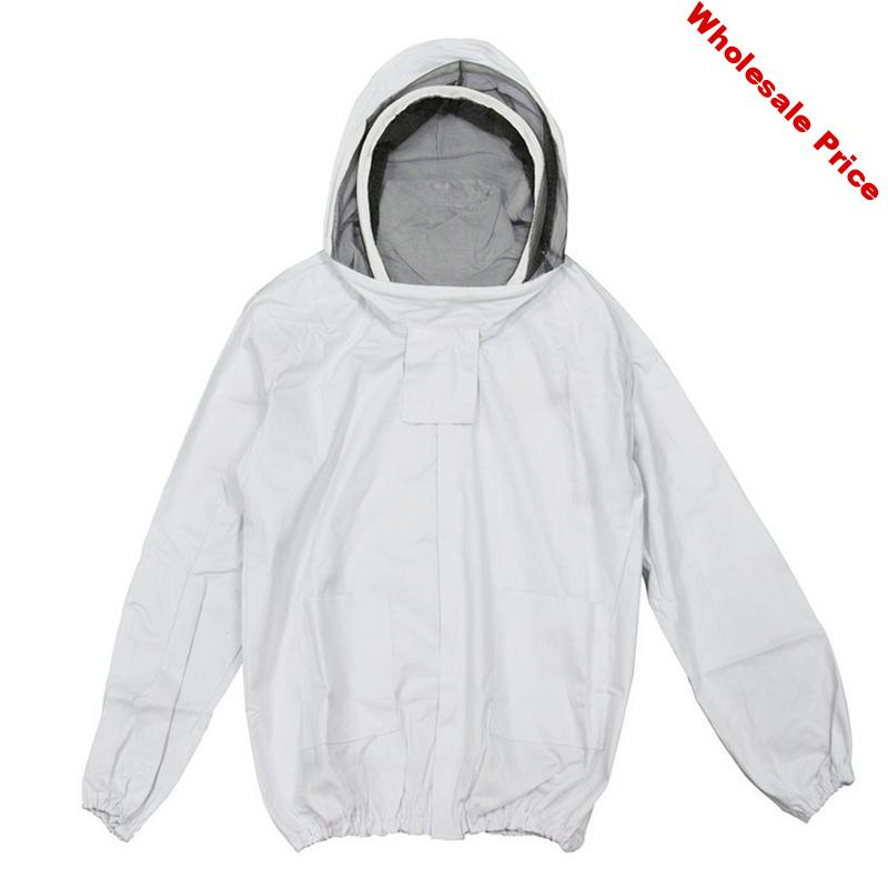 Beekeeper Jacket with Self Supporting Veil Beekeeper Hooded Jacket Veil Smoker Bee Jacket