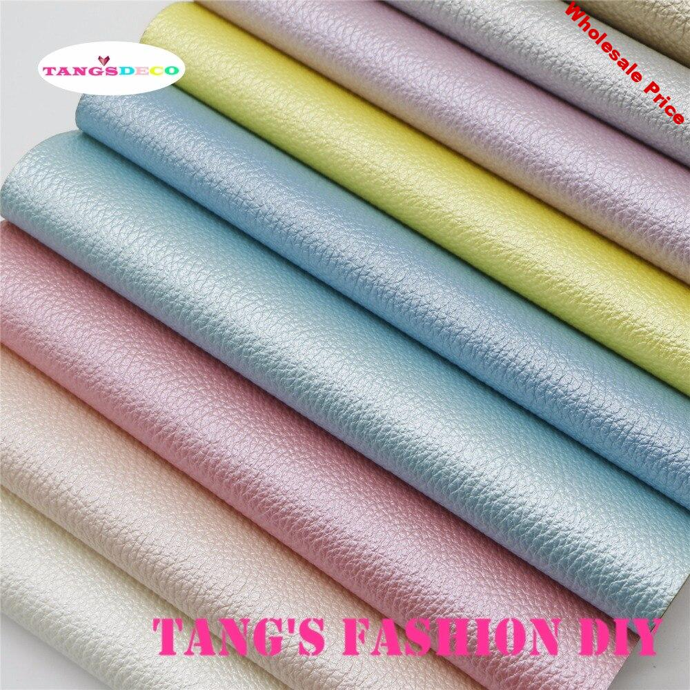 11PCS--High Quality DIY light color Pearl Embossed PU leather set /Synthetic leather/DIY fabric 20x22cm per pcs CAN CHOOSE COLOR