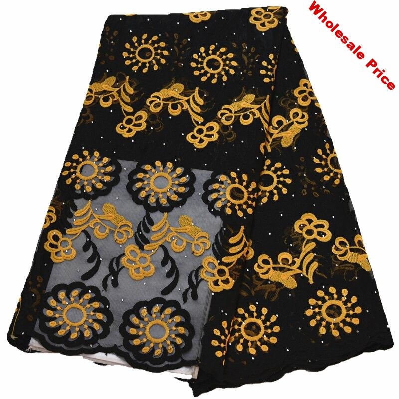 latest 5yards lace fabric 2020 african lace fabric with stones african fabric african lace fabric 2019 high quality lace