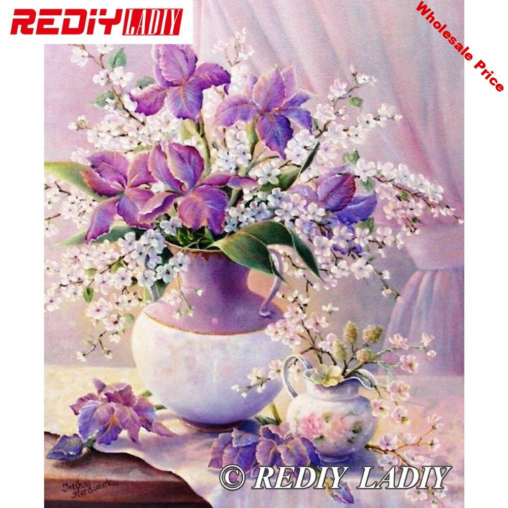 30x39cm Accurate Printed Crystal Beads Embroidery Kits Still Life Flowers Beadwork Crafts Needlework Beaded Cross Stitch APT656