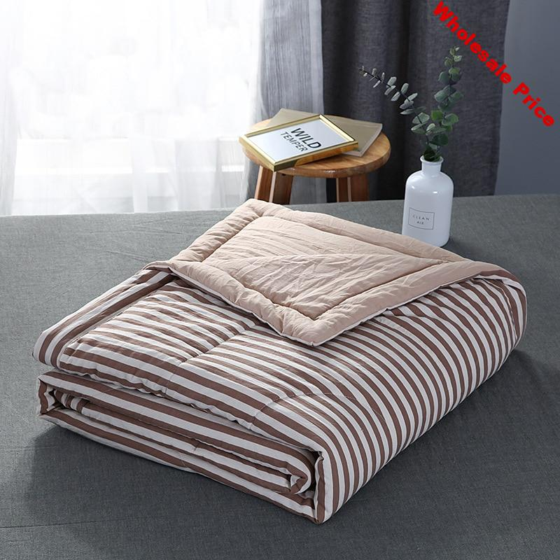 2020 New Cotton Blanket Summer Air Conditioning Quilt Plaid Soft Bed Quilts Summer Spring Throw Fashion Quilts Home Textile