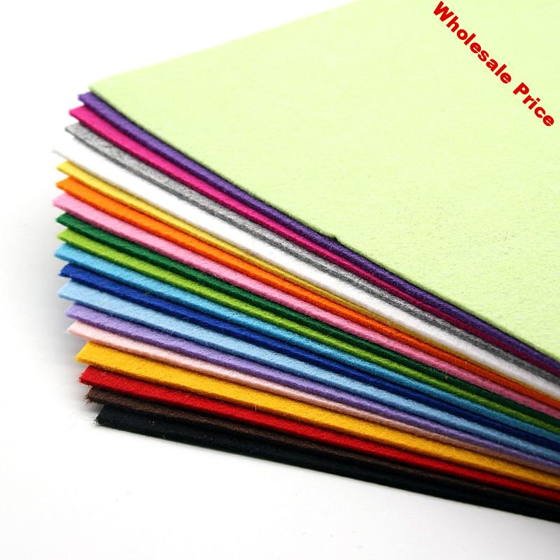 19pcs/lot High Quality 2mm 30*30cm Mix Colors Non Woven Felt Fabric Polyester Cloth Felts DIY Bundle For Sewing Dolls Craft New
