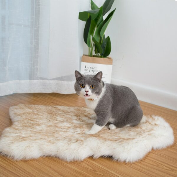 Pet Dog Bed Mat Curve White Dog Rug Faux Fur Orthopedic Dog Bed For Big Medium Small Puppys Support Dropping Shipping Top