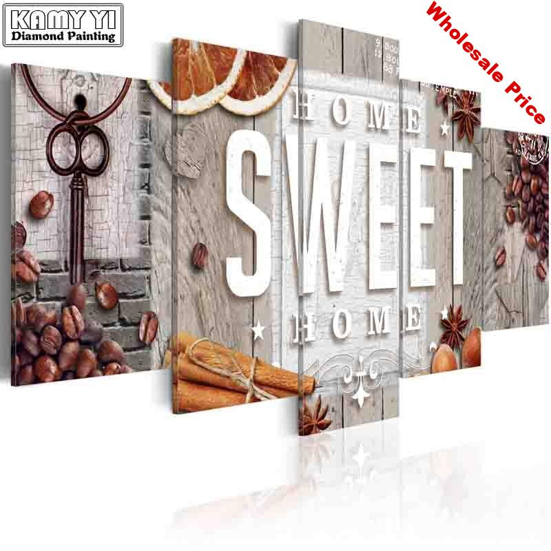 full square drill Diamond embroidery Sweet Home 5D DIY diamond painting Cross Stitch Multi-picture home decoration