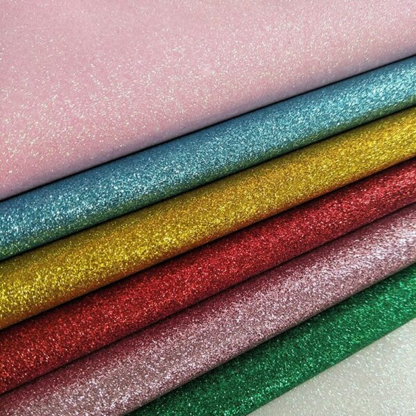 100cm*140cm Glitter Synthetic Leather Fabrics PU Sequins Glitter Fabric Wall Decoration Artificial Leather Material Fabric