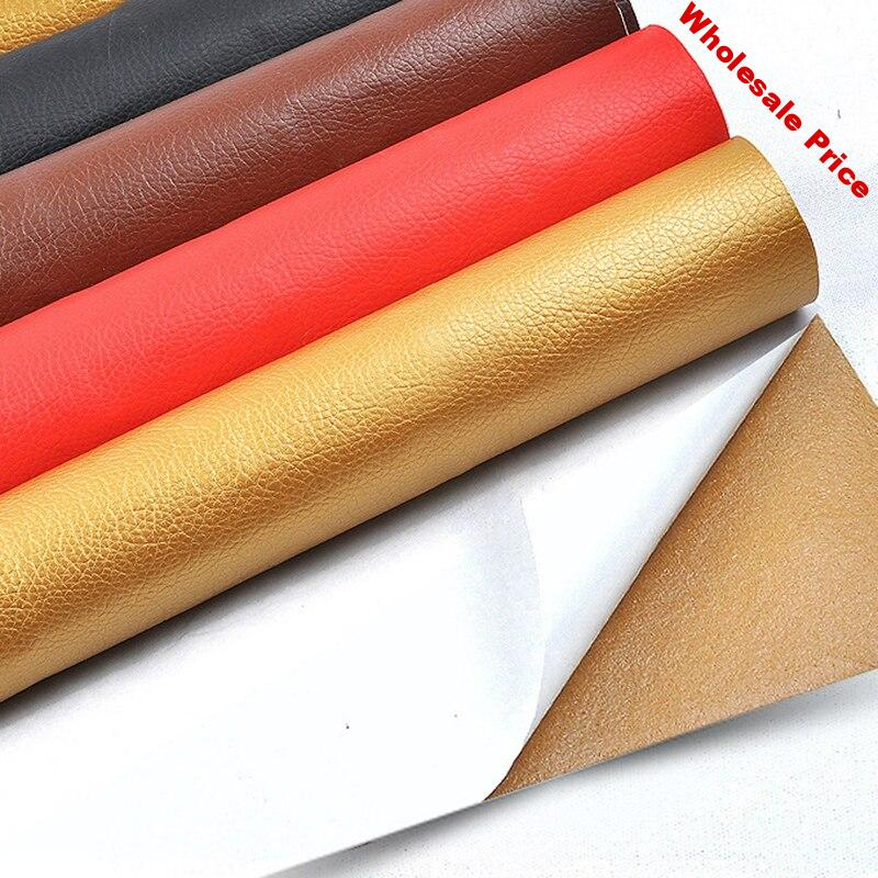 Width 140CM PU Leather Fabric Car Home Hotel Decoration Artificial Leather High Viscosity Material Interior Repair Leather