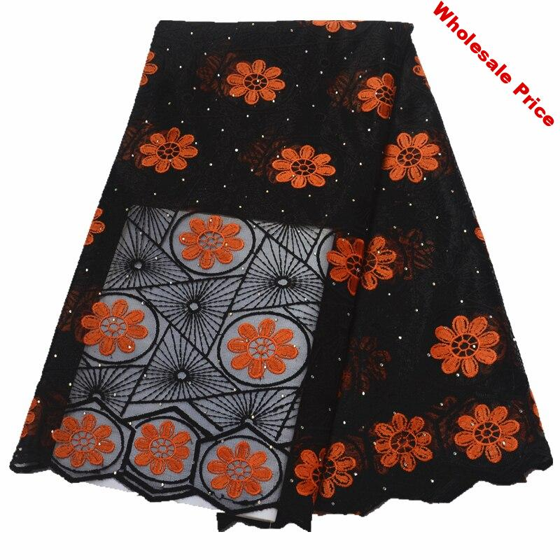 black and red latest african lace fabric 2019 high quality lace fabric with stones african fabric nigerian french lace fabric