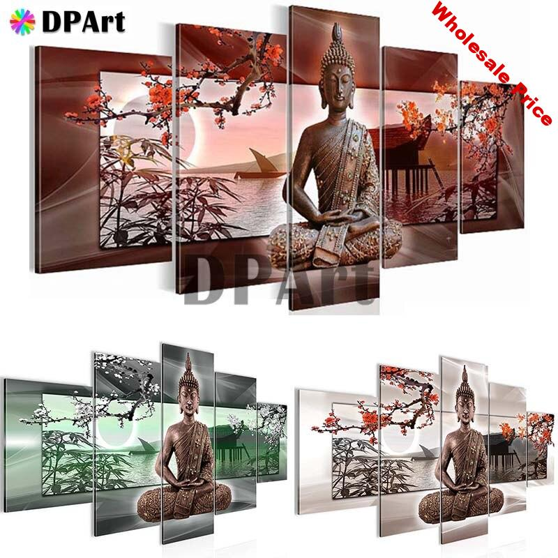 5PCS Diamond Painting 5D Full Square/Round Drill Buddha Religion Daimond Embroidery Painting Cross Stitch Mosaic Picture M914