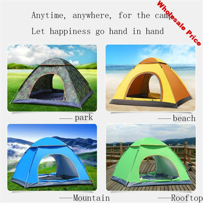 Fully Auto Quick Opening Outdoor Tents/Throw Tents Throwing Pop Up Waterproof Camping Hiking Tent Sunscreen Large Family Tents