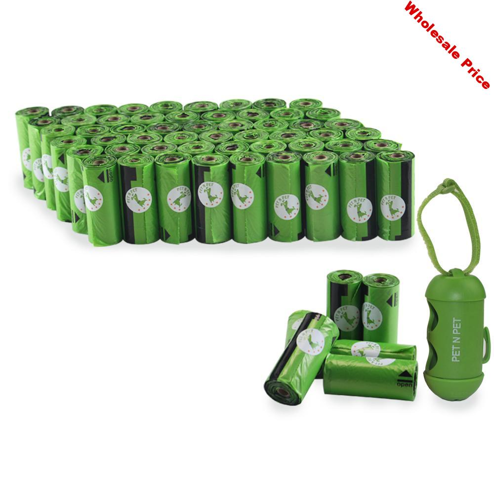 Dog Poop Bags 450/900 Counts 30/60 Rolls 10 Mic Cat Waste Bags Doggie Bag Green Black Pink Color Garbage Bags 900 with Dispenser