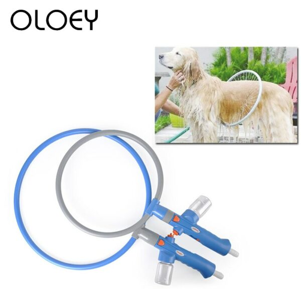 Dog Wash 360 Round Shape Pets Massager Cleaner For Dog Bath Convenient Clean Tool Easy Using Washing Gun Pet Shower Supplies