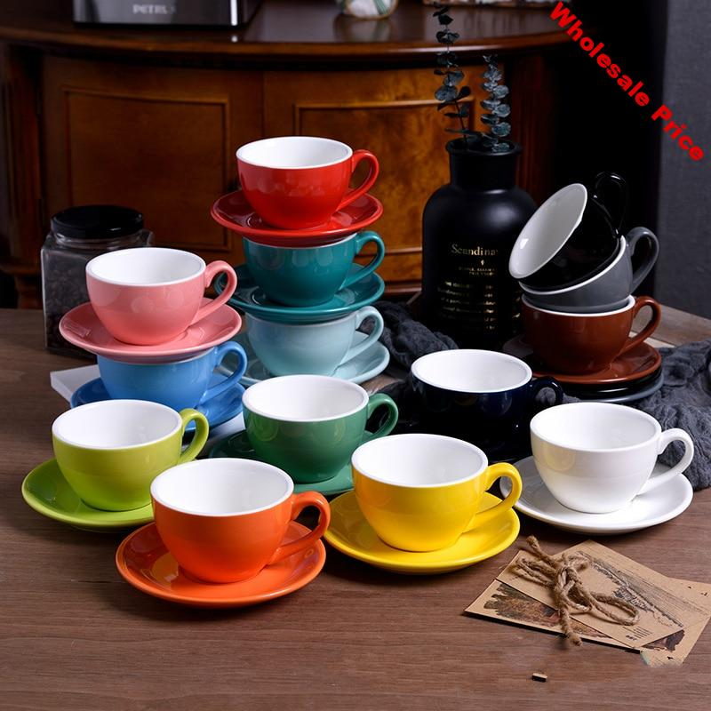 Pull Flower Coffee Mugs Italian Milk Cups And Saucer Ceramic Small Capacity Espresso Colors Optional Afternoon Tea Latte Cafe