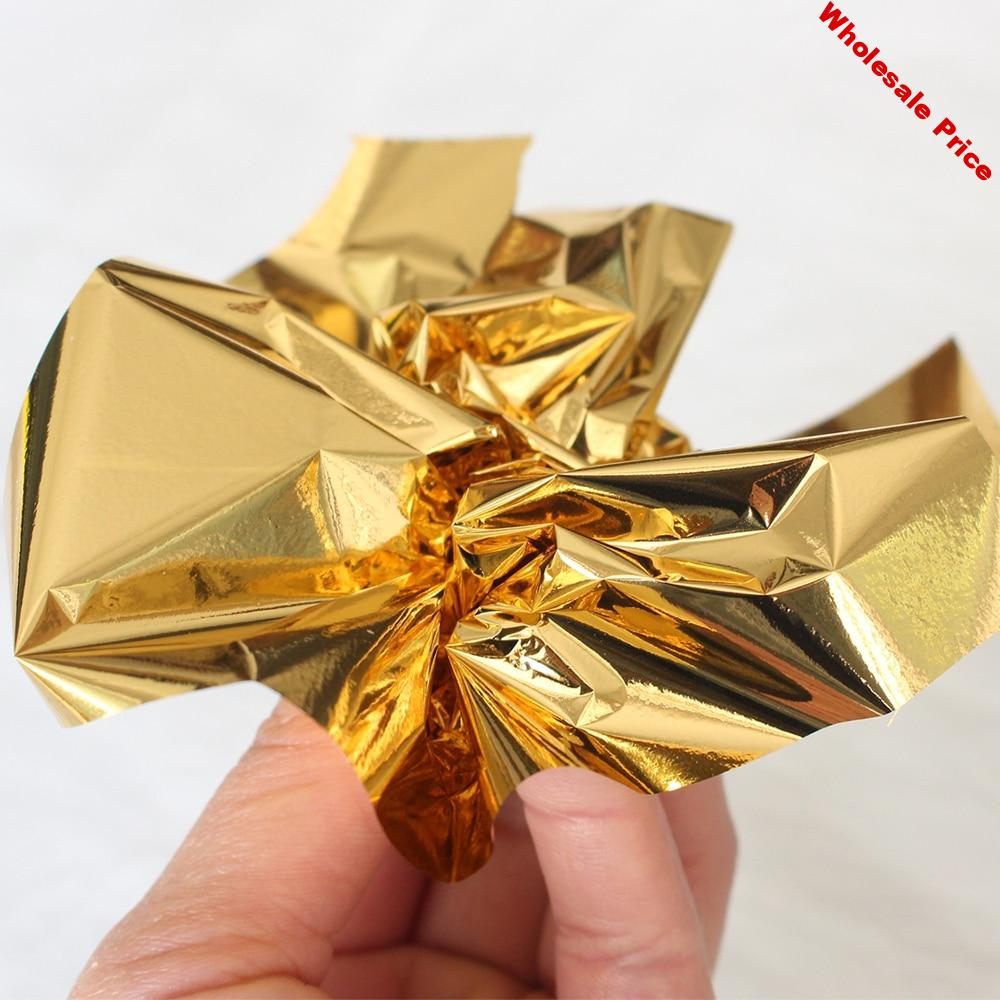 500PCS 13X13.5cm B Gold Foil Paper Gold Leaf Sheets in Art and Craft Furniture Nail Decoration Painting Potal Gilding Gold Paper