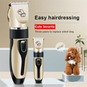 Dog Hair Trimmer 2020 Top Pet Shaver Clippers Low Noise Rechargeable Cordless Electric Hair Clippers Dog Trimmer Clippers