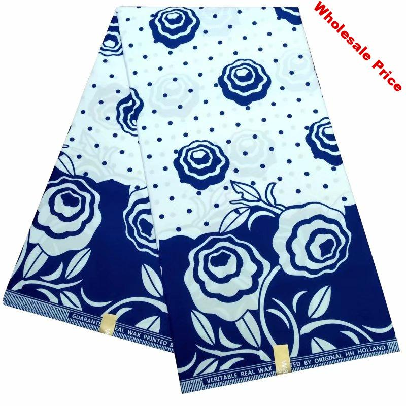 2020 latest blue and white tissue wax african prints for party dress 6yards african wax print fabric cheap african wax fabric