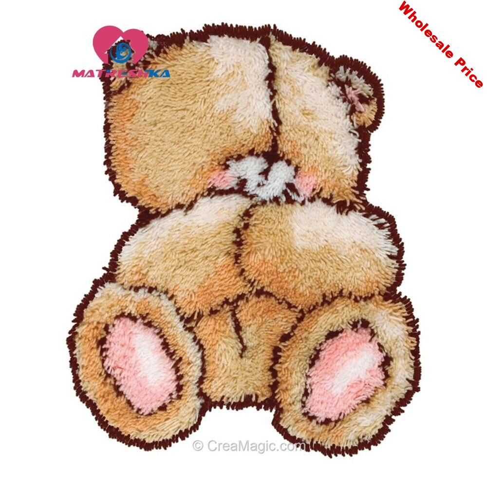 Cartoon bear for kids latch hook rug kits needle for carpet embroidery foamiran for needlework Foamiran for crafts tapestry kits