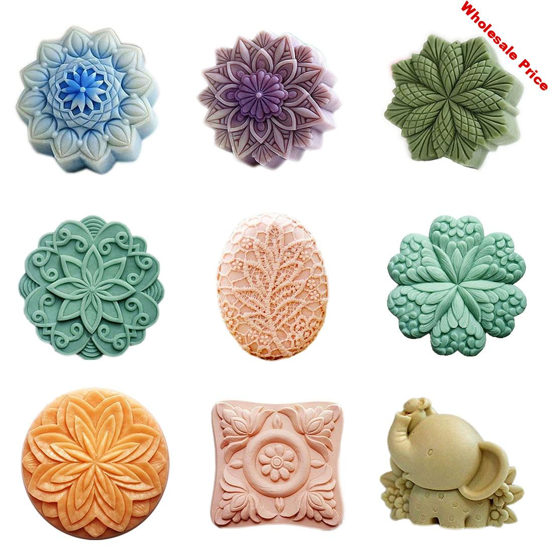 Flower Soap Making  Round Silicone Soap Mold Animal Silicone Soap Molds Oval Soap Mold Bath Bomb Mold Silicone Mold Soap Forms