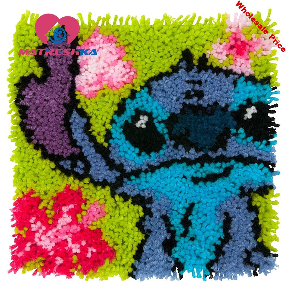 carpet embroidery sale sets latch hook rug kits cartoon do it yourself button package tapestry kits cross stitch pillow home