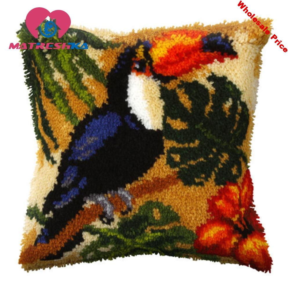 carpet embroidery kits latch hook pillow do it yourself button package carpet embroidery cross stitch pillow Foamiran for crafts