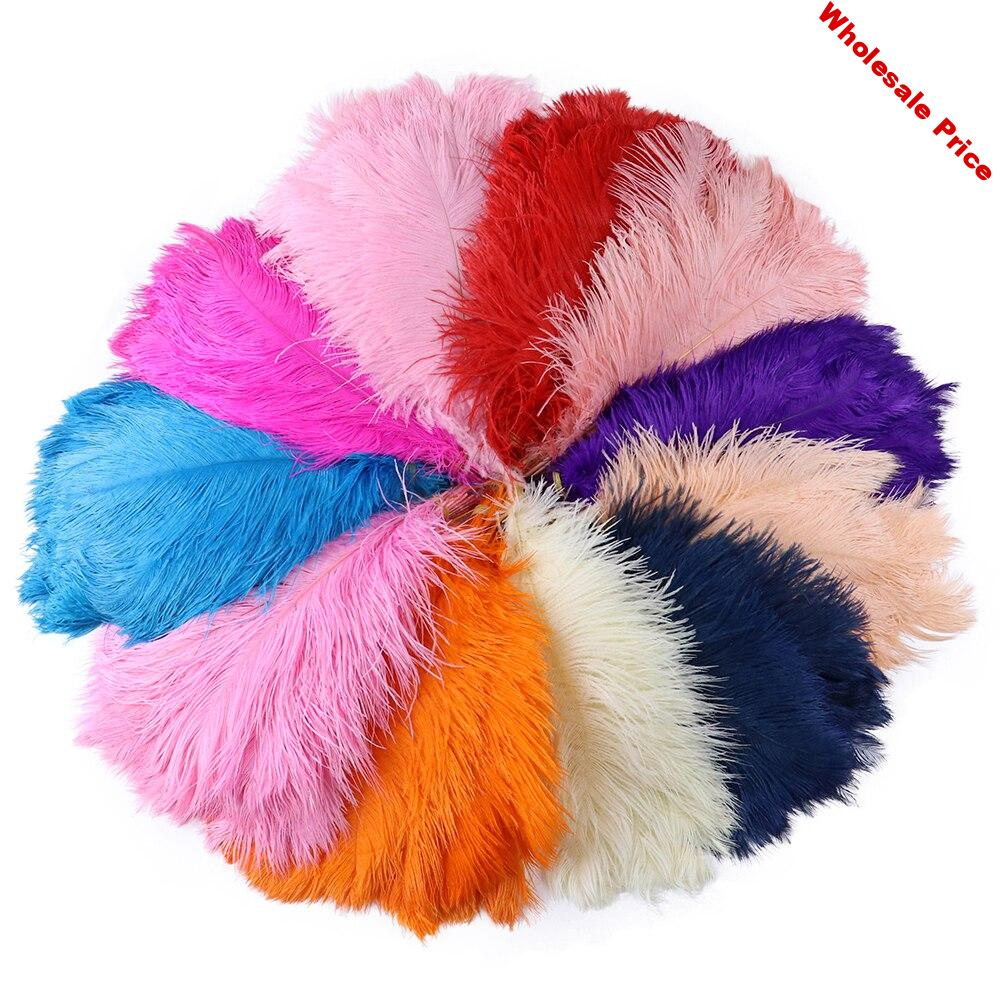 Big Pole High Quality Fluffy Ostrich Feathers 35-40CM/14-16 Inches Ostrich Plumes For Wedding Party Home Decoration Craft Plumes