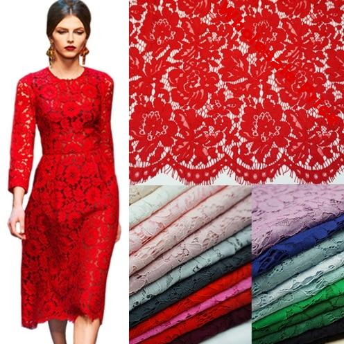 1.5 * 1.5 m Lash Embroidery Lace Fabrics Cotton Cord French Lace Fabric Guipure Nigeria African Lace For Wedding Dress