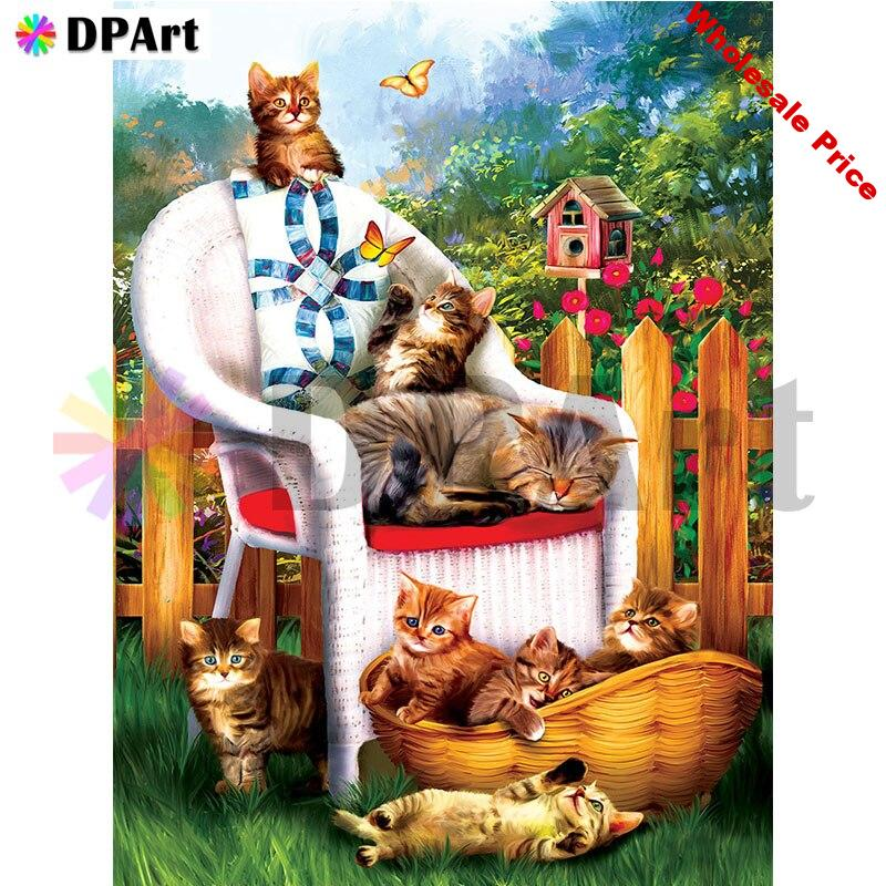 Diamond Painting Full Square/Round Drill Cat Butterfly Flowers 5D Daimond Embroidery Painting Rhinestone Cross Stitch Kit M533