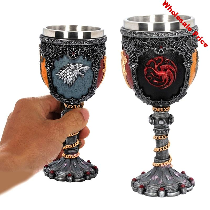 Game of Thrones Cup Iron Throne Tankard Sword Wine Glass Stainless Steel & Resin Cups and Mugs Goblet Drinkware Mark FanGot Gift
