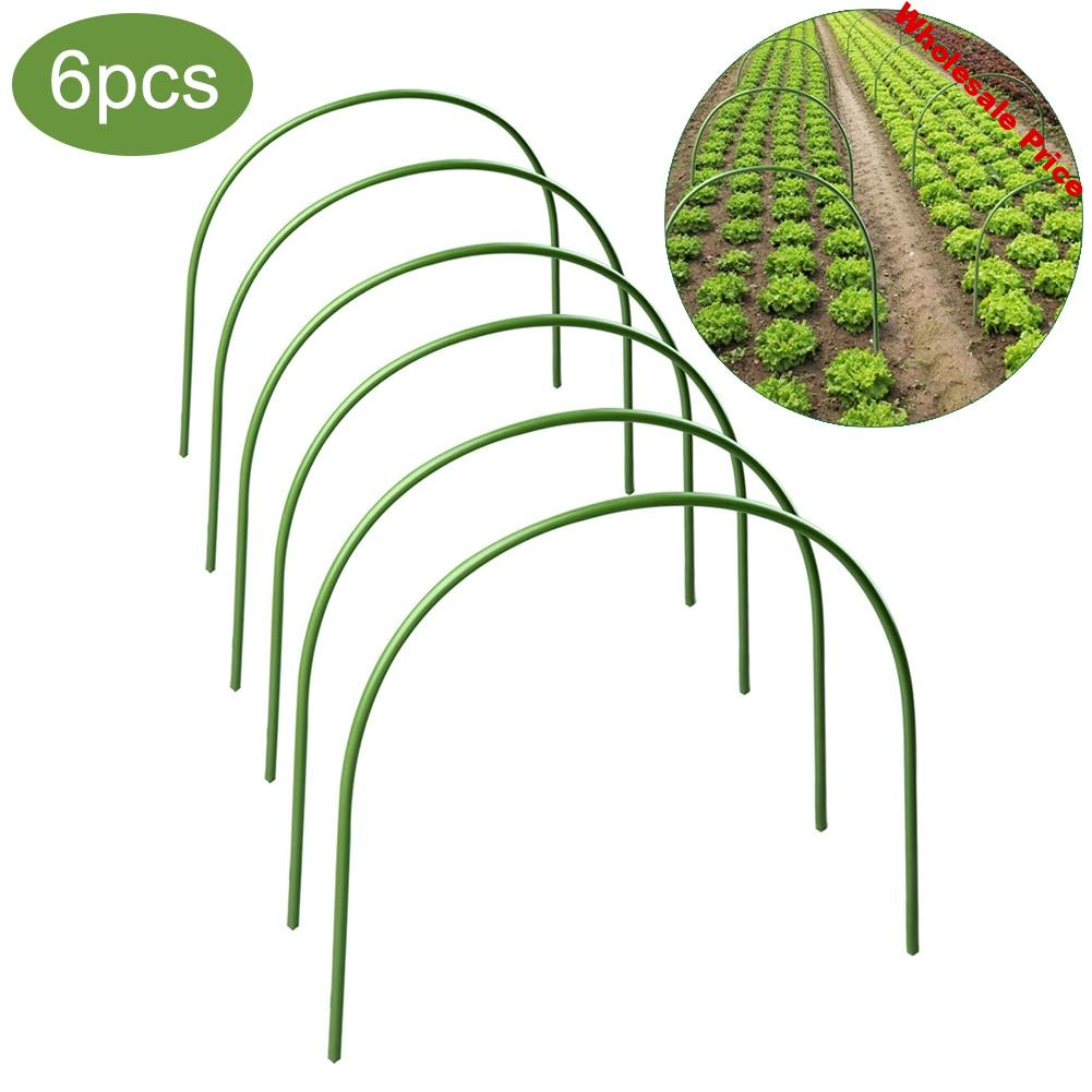 6 Pcs Greenhouse Hoops Plant Hoop Grow Garden Tunnel Hoop Support Hoops  Plant Holder Tools for Garden Stakes Farm Agriculture