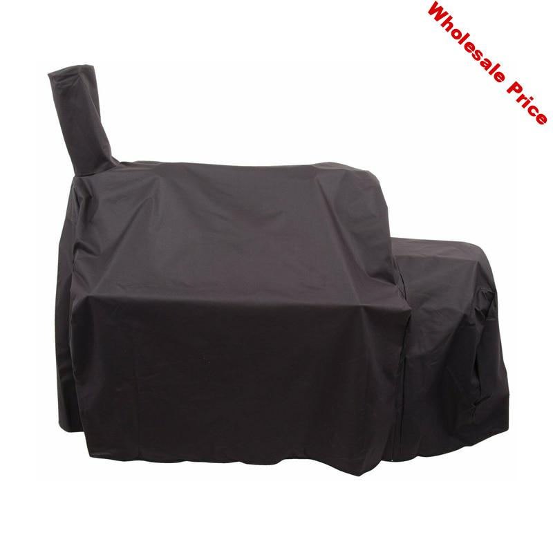 145X85X135cm Smoker Cover  for Char-Broil  Joe's Highland Reverse  Smoker Black Heavy-Duty Barbecue Grill Cover