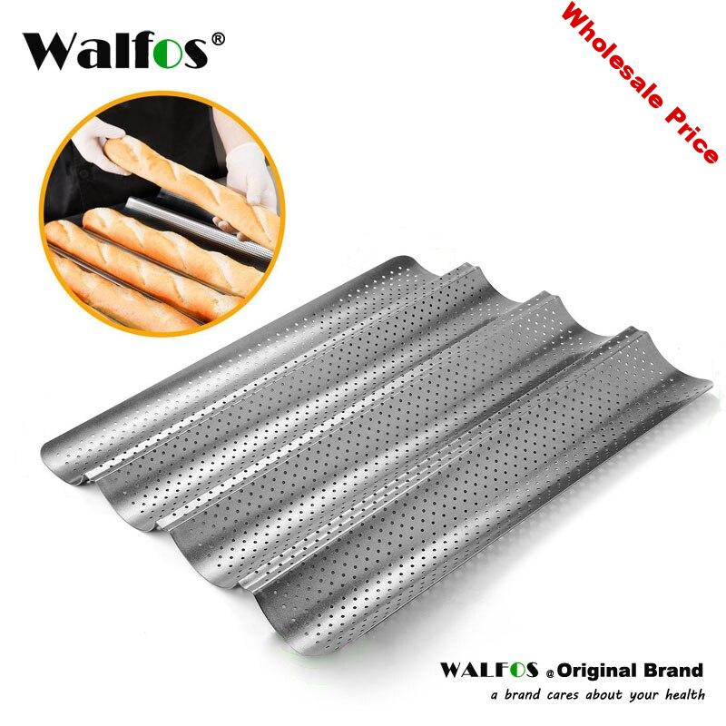 Carbon Steel 4 Groove 2 Groove Wave French Bread Baking Tray For Baguette Bake Mold Pan
