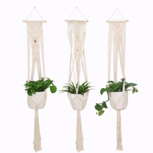 Flower Basket Green vine Pot Planter Hanging Vase Container Wall Plant Basket For Garden ABN05
