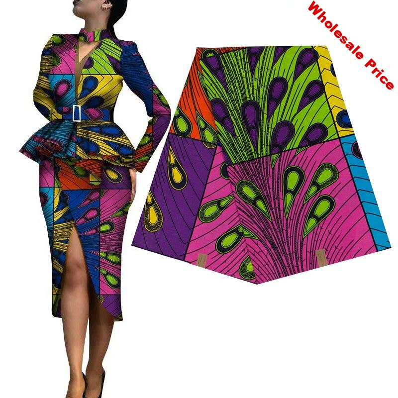 Africa prints batik patchwork 100% cotton real wax fabric for party dress African Ankara pagne sewing material making crafts DIY
