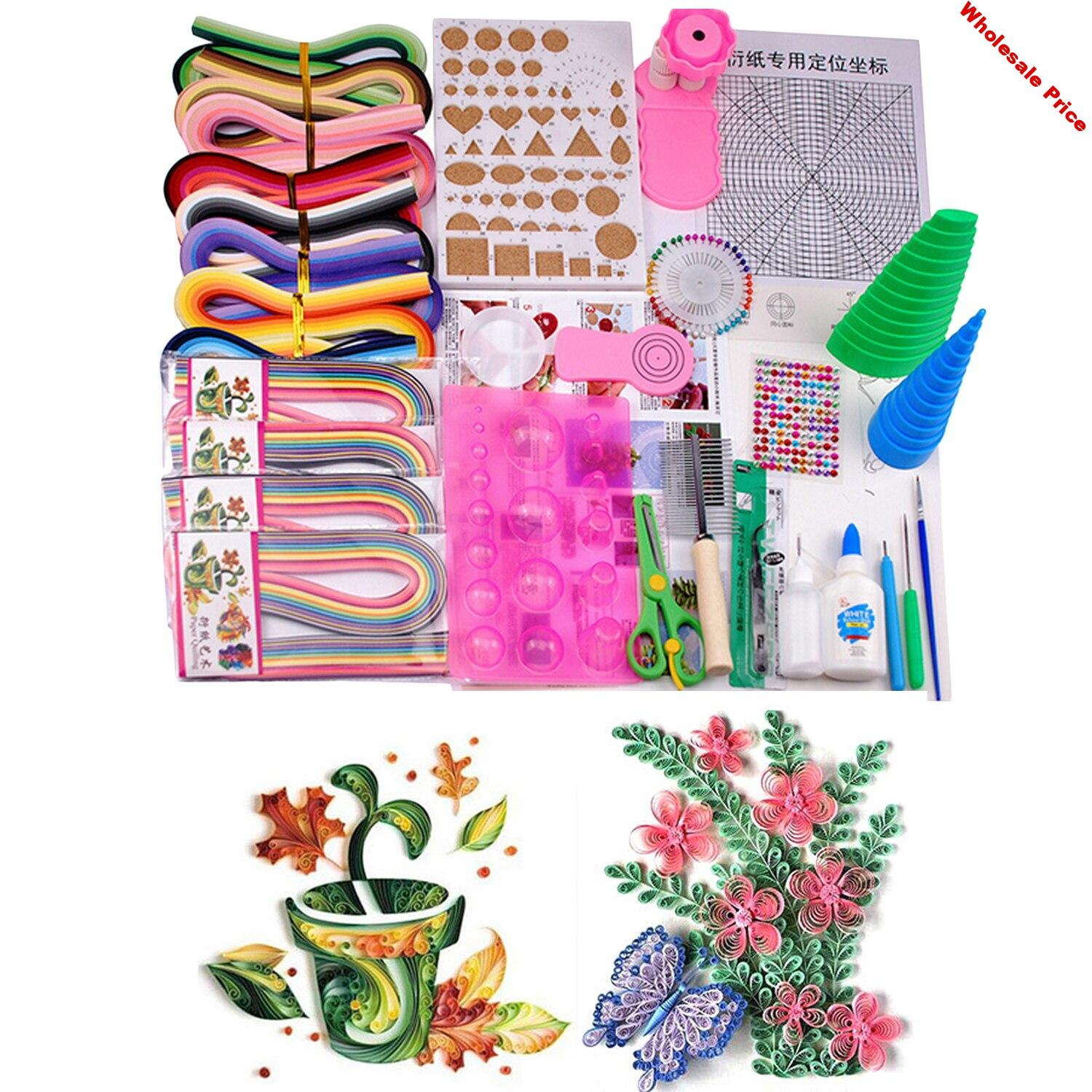 Complete Quilling Paper Material 1520 Strips Paper with 21 Kinds Necessary Tools Kit for Beginners Kids Adults Random Style
