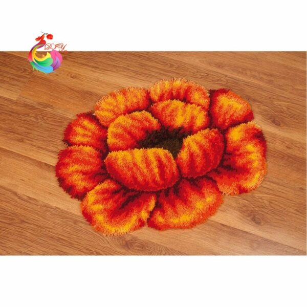 cross stitch thread embroidery kit crochet carpet Latch hook rug kits rugs and carpets Stitch threads yarn for crocheting Flower