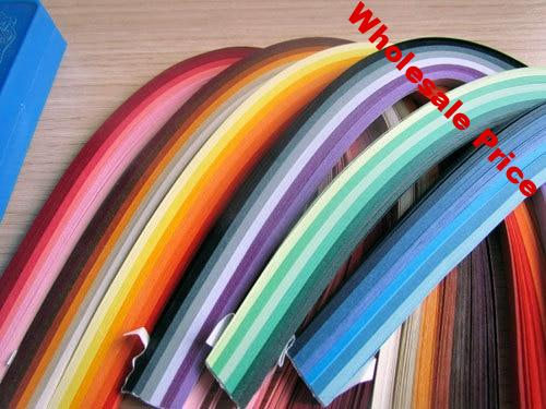 720PCS Quilling Paper 5mm Width x 54cm Length Mixed 36 Colors colorful DIY Paper Material Free Shipping